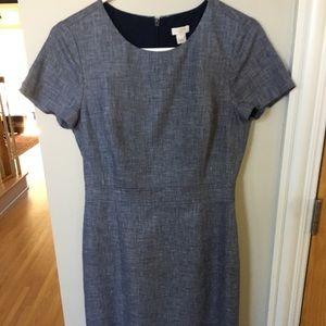 Navy tweed Jcrew dress. Size 2 NWOT